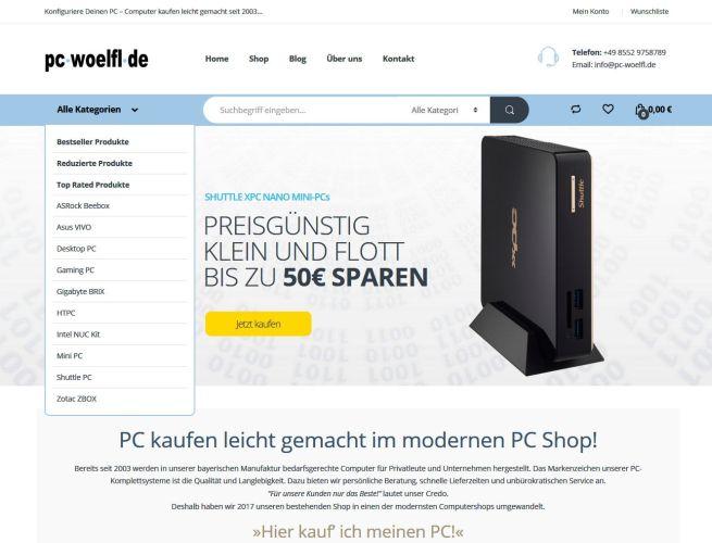 Projekt PC-Wölfl Onlineshop