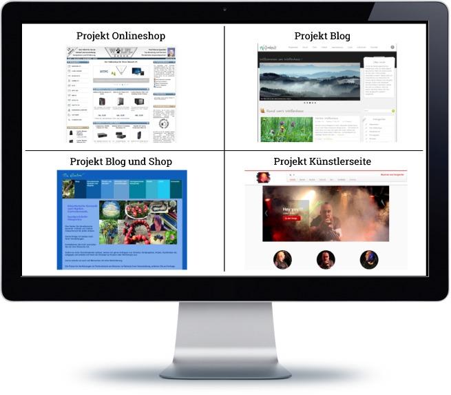 Webdesigns für verschiedene Projekte