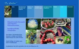 Webdesign für eine Künstlerseite mit Onlineshop