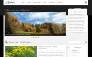Webdesign für den Blog Wolfenhaus