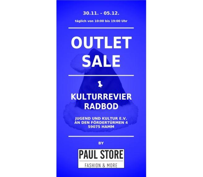 Flyer für Outlet Sale Verkauf