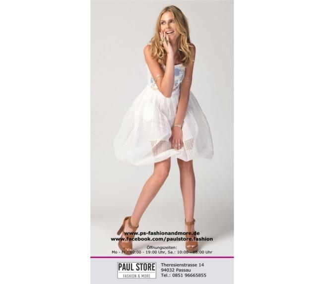 """Flyer """"Weißes Kleid"""" für Boutique"""