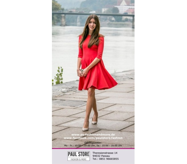 "Flyer ""Rotes Kleid"" für Boutique"